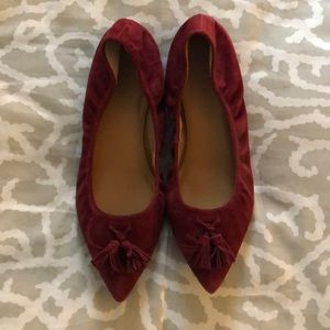 J Crew sueded leather flats